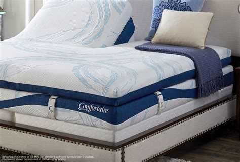 solstice split top air bed  comfortaire sleepworks