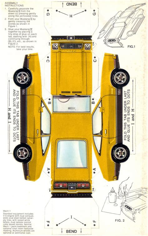 Cut Out And Make Paper Models - ford 1974 mustang sales brochure