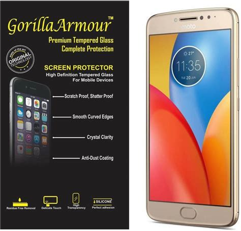 Tempered Glass Motorola Moto E4 Plus Anti Gores 9h gorilla armour tempered glass guard for motorola moto e4