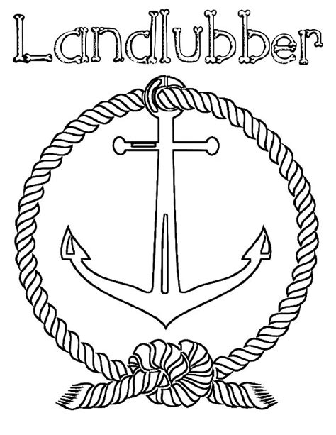 doodle name ega great landlubber anchor coloring pages with marine