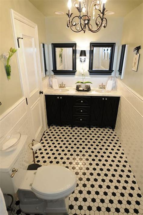 30 Small Black And White Bathroom Tiles Ideas And Pictures Small Black And White Bathrooms Ideas