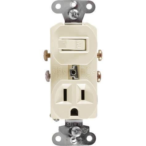 ge switch and outlet combo light almond walmart