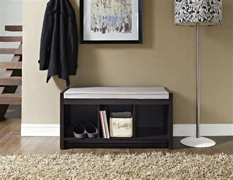 entryway shelf and bench set 2 piece entryway bench and shelf set in black