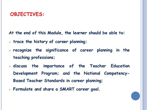 objectives of teaching journeying the teaching profession myself and my career by