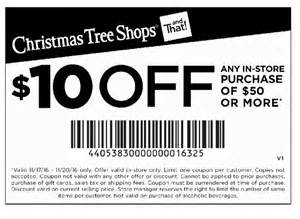 christmas tree shops coupon 10 off 50 or more 11 17 2016