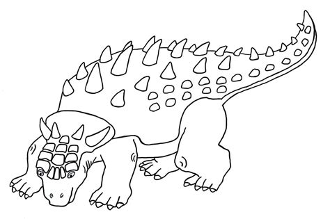 dinosaur color ankylosaurus printable coloring pages coloring page