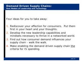 Supply Chain Mba Project Topics by Demand Driven Supply Chains