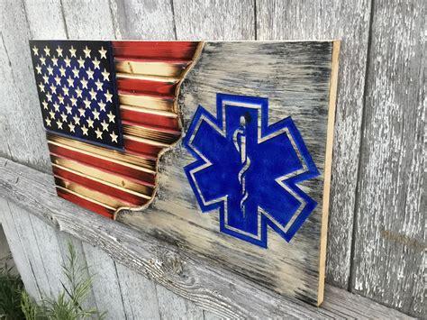 american flag ems rustic american flag wood flag