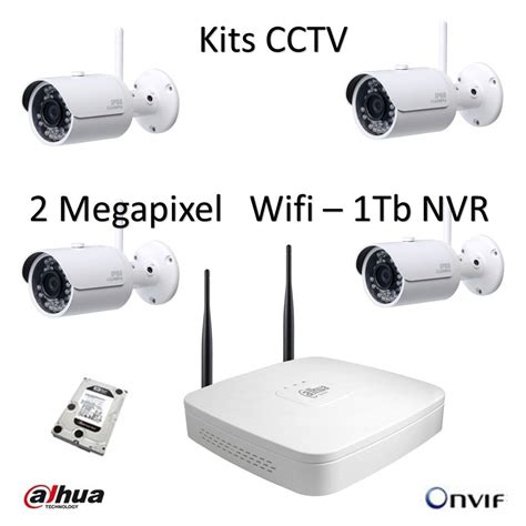 Cctv Wireles kit 4 wireless cctv dahua 1tb cordless 2 mp ip cameras nvr