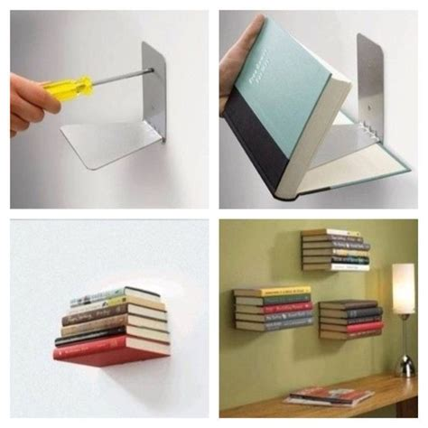 diy invisible bookshelf my home