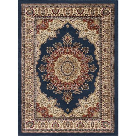 10 X 12 Navy Area Rug - tayse rugs sensation navy blue 8 ft x 11 ft traditional