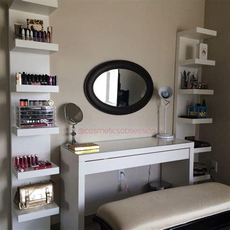 Vanity Shelves Bedroom by Makeup Storage And Organization Ikea Lack Shelf Unit