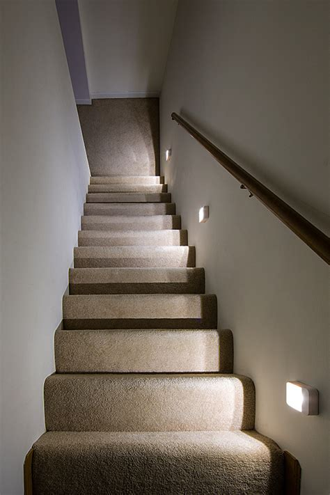 how to change light bulbs in a stairwell readybright wireless power outage led stair light by mr