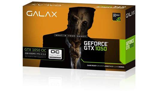 Murah Galax Nvidia Geforce Gtx 1050 Oc 2gb Ddr5 Single Fan galax announces low profile gtx 1050 and 1050 ti oc lp