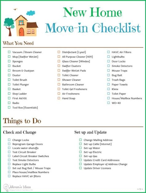 things to buy for first home checklist tips checklist for moving to a new home akram s ideas