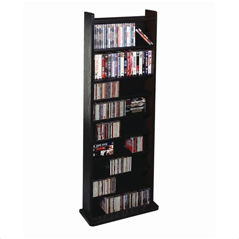 deluxe cd dvd multimedia storage wall unit in black cd 500b