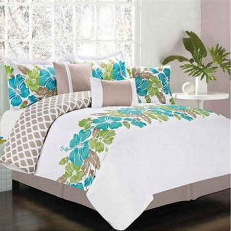hibiscus bedding hawaiian island hibiscus tropical queen comforter set 7