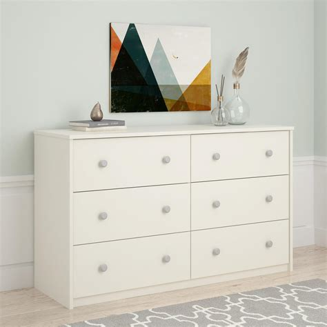 essential home belmont 6 drawer dresser white