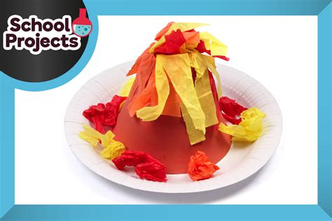 How To Make A Volcano Out Of Paper - how to make a volcano from paper hobbycraft