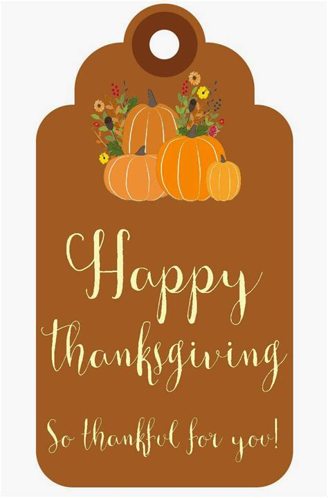 printable thanksgiving tags sweet blessings thankful for you printables