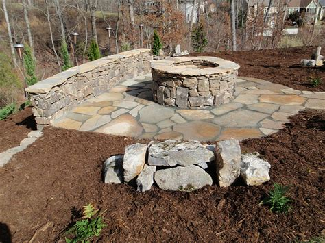 diy stone bench build a fire pit diy