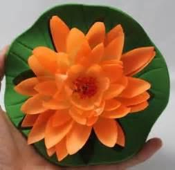 Lotus Orange Plant 1 Pc 5 5 Quot Artificial Lotus Orange Flower Float Home Spa