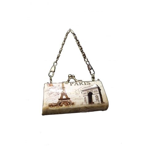 In Which City The Eiffel Tower Tote Shakes Things Up A Bit by Vintage Eiffel Tower Purse With Chain Souvenirs Of