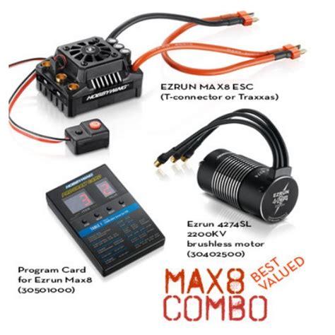 Lu Led Motor Tiger Revo hobbywing max8 esc combo w ezrun 2200kv motor w traxxas summit e revo ebay