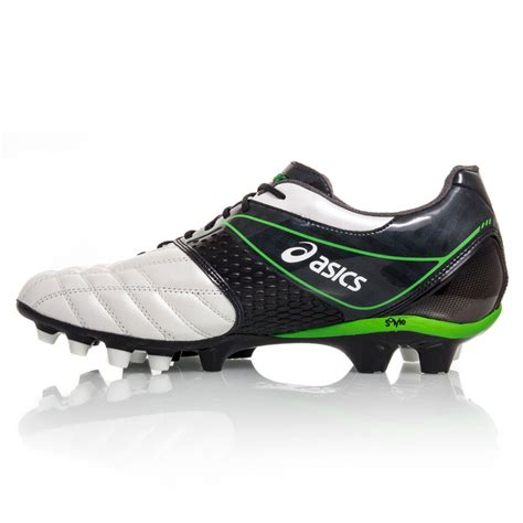 mens football shoes asics lethal stats 2 mens football boots black white