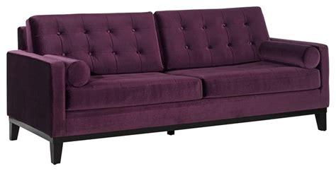 eggplant sectional sofa contemporary centennial eggplant velvet sofa modern