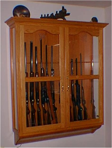 woodwork wall mount gun cabinet plans  plans