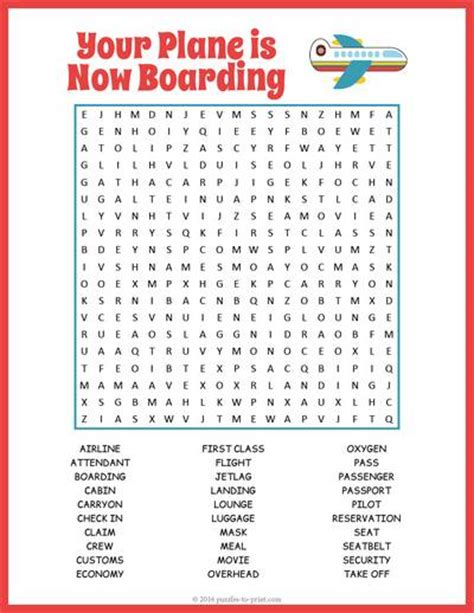 printable word search vacation this printable airplane word search is the perfect quiet