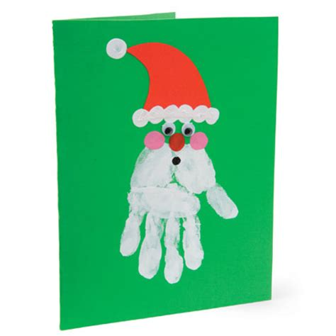 preschool crafts for kids santa handprint christmas card