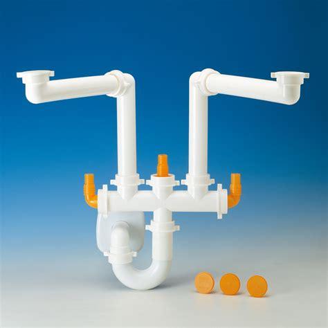 ic lavello 2 ic sifone per lavello cucina doppia vasca lira spazio 2 ebay