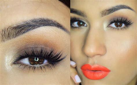 imagenes de ojos naranjas ahumado f 225 cil marr 243 n labios naranja abrildoesmakeup
