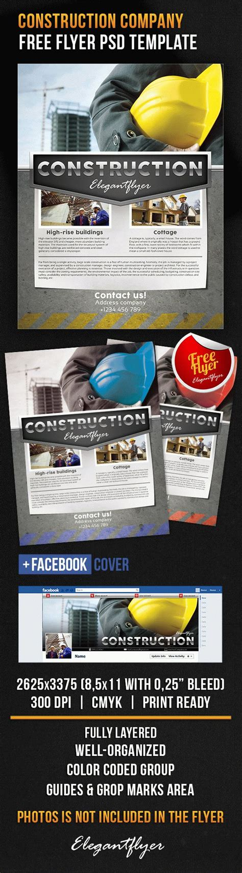 Free Construction Company Facebook Cover Photoshop Flyer Template Flyershitter Com Construction Company Template Free