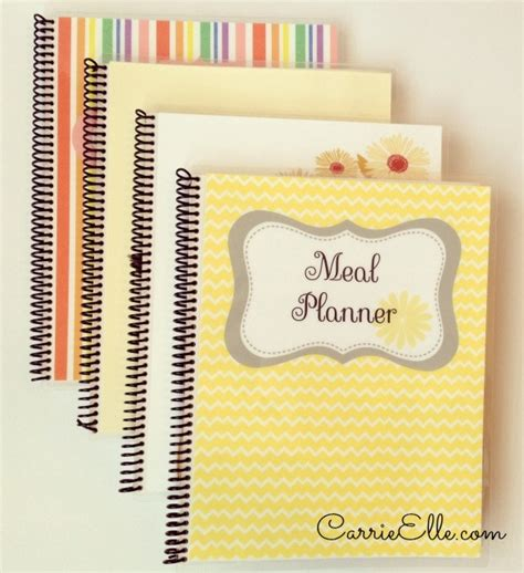 printable meal planner by carrie lindsey i opened an etsy shop meal planners from carrie elle