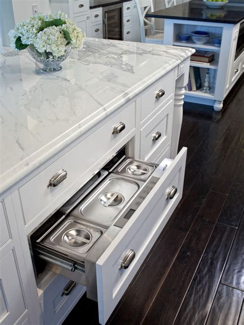 kitchen island drawers hidden warming drawer traditional kitchen airoom