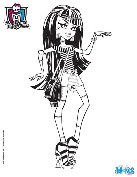 monster high movie coloring pages egyptian cleo de nile coloring pages hellokids com