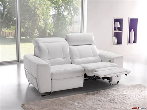 Couches With Recliners Built In by Reclining Leather Sofa With Independent Electric Mechanism