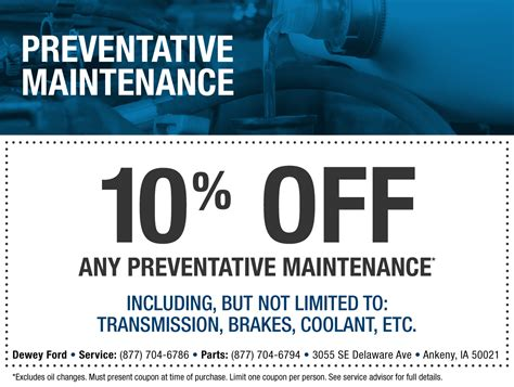 ford service coupons ford service specials dewey ford