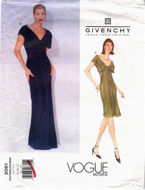 pattern vogue john galliano for givenchy vogue patterns patternvault