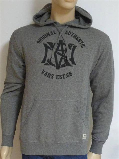 Jaket Zipper Hoodie Sweater Vans Of The Wall Skateboards vans the wall pinch hitter grey pullover hoodie sweatshirt jacket new ebay