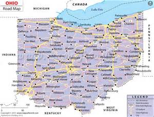 Ohio On A Map by Ohio Road Map Http Www Mapsofworld Com Pinterest