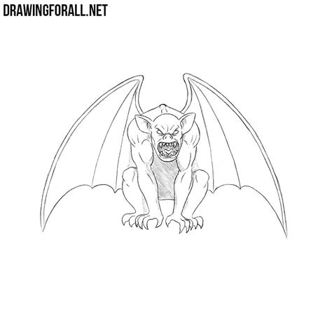 How To Draw A Drawingforall by How To Draw A Gargoyle Drawingforall Net