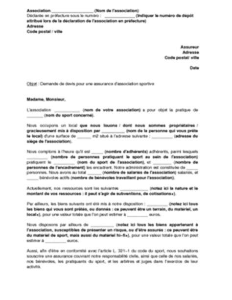 Exemple De Lettre Demande De Subvention Association Lettre De Demande De Devis Pour Une Assurance D Association Sportive Mod 232 Le De Lettre Gratuit