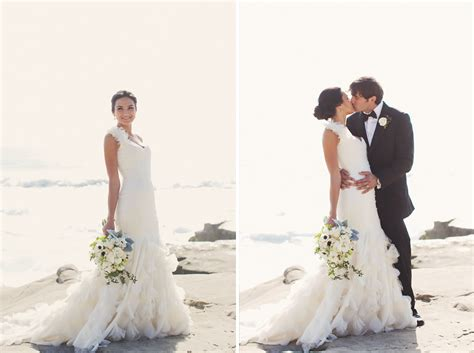 blush pink and shabby chic wedding by the beach inspired by this