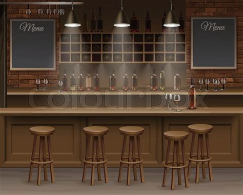 cafe interior design vector illustration of bar cafe beer cafeteria counter desk