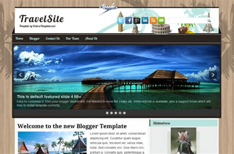 templates blogger travel travelsite blogger template deluxetemplates