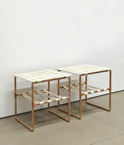 copper pipe furniture maru side tables by david chang copper pipe baltic birch